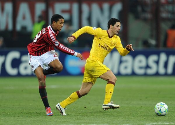 ac milan v arsenal fc uefa champions league round of 16
