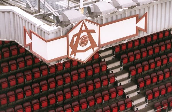 arsenal crest and seats photographed