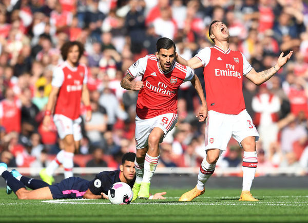 LONDON, ENGLAND - OCTOBER 06: Dani Ceballos of Arsenal during the Premier League match between Arsenal FC and AFC Bournemouth at Emirates Stadium on October 06, 2019 in London, United Kingdom. (Photo by Stuart MacFarlane/Arsenal FC via Getty Images)