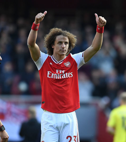 LONDON, ENGLAND - OCTOBER 06: David Luiz of Arsenal after the Premier League match between Arsenal FC and AFC Bournemouth at Emirates Stadium on October 06, 2019 in London, United Kingdom. (Photo by Stuart MacFarlane/Arsenal FC via Getty Images)