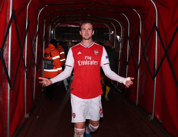 LONDON, ENGLAND - OCTOBER 03: Rob Holding of Arsenal after the UEFA Europa League group F match between Arsenal FC and Standard Liege at Emirates Stadium on October 03, 2019 in London, United Kingdom
