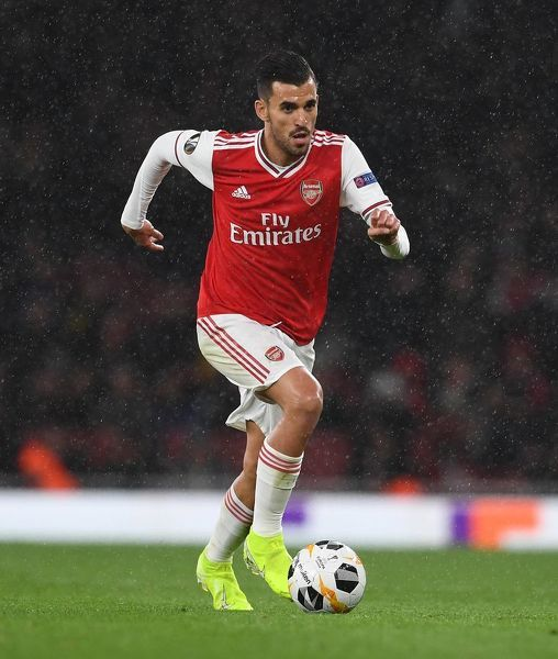 LONDON, ENGLAND - OCTOBER 03: Dani Ceballos of Arsenal during the UEFA Europa League group F match between Arsenal FC and Standard Liege at Emirates Stadium on October 03, 2019 in London, United Kingdom