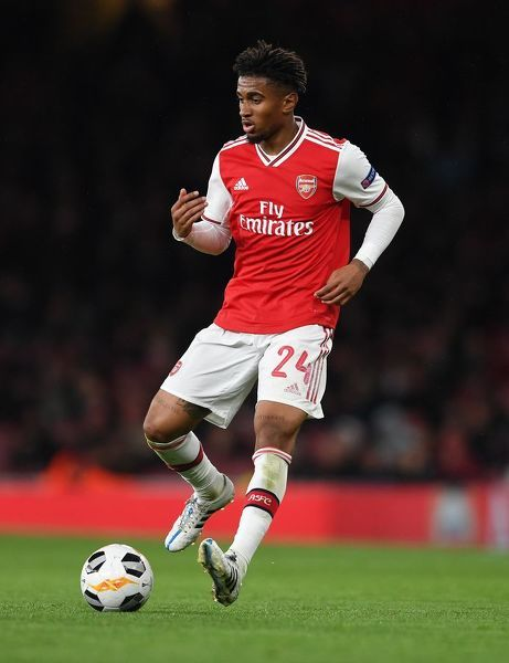 LONDON, ENGLAND - OCTOBER 03: Reiss Nelson of Arsenal during the UEFA Europa League group F match between Arsenal FC and Standard Liege at Emirates Stadium on October 03, 2019 in London, United Kingdom