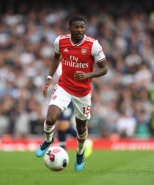 LONDON, ENGLAND - SEPTEMBER 01: Ainsley Maitland-Niles of Arsenal during the Premier League match between Arsenal FC and Tottenham Hotspur at Emirates Stadium on September 01, 2019 in London, United Kingdom
