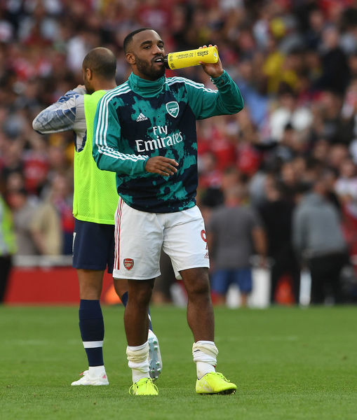 LONDON, ENGLAND - SEPTEMBER 01: Alexandre Lacazette of Arsenal after the Premier League match between Arsenal FC and Tottenham Hotspur at Emirates Stadium on September 01, 2019 in London, United Kingdom