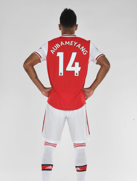 ST ALBANS, ENGLAND - AUGUST 07: Pierre-Emerick Aubameyang of Arsenal at London Colney on August 07, 2019 in St Albans, England. (Photo by Stuart MacFarlane/Arsenal FC via Getty Images)