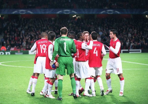 arsenal players before the match