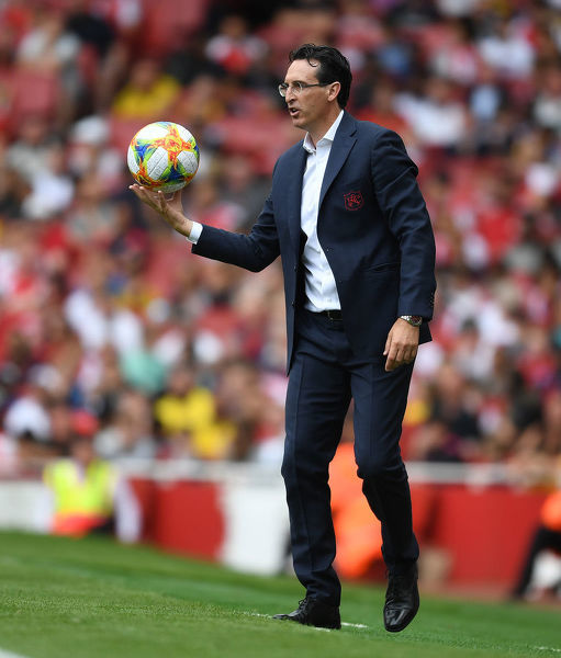LONDON, ENGLAND - JULY 28: Arsenal Head Coach Unai Emery during the Emirates Cup match between Arsenal and Olympic Lyonnais at Emirates Stadium on July 28, 2019 in London, England. (Photo by Stuart MacFarlane/Arsenal FC via Getty Images)