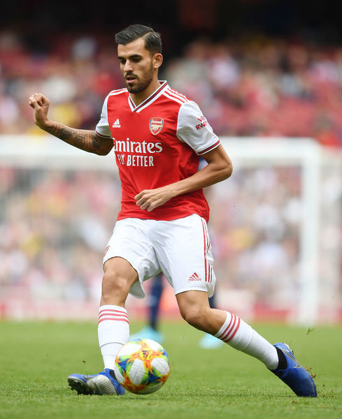 LONDON, ENGLAND - JULY 28: Dani Ceballos of Arsenal during the Emirates Cup match between Arsenal and Olympic Lyonnais at Emirates Stadium on July 28, 2019 in London, England. (Photo by Stuart MacFarlane/Arsenal FC via Getty Images)