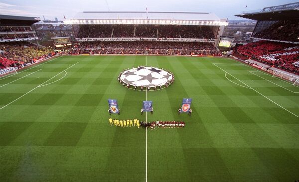 the arsenal and villarreal line up before