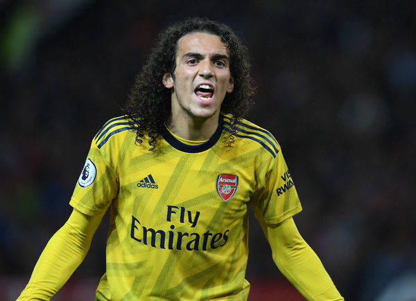 MANCHESTER, ENGLAND - SEPTEMBER 30: Matteo Guendouzi of Arsenal during the Premier League match between Manchester United and Arsenal FC at Old Trafford on September 30, 2019 in Manchester, United Kingdom