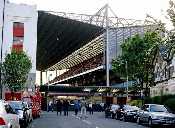 north bank stand during the match arsenal
