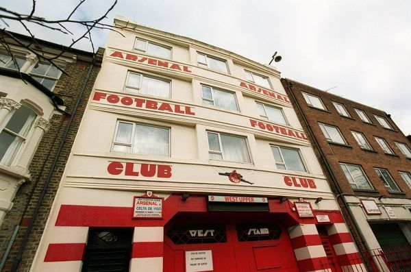 west stand upper entrance arsenal stadium