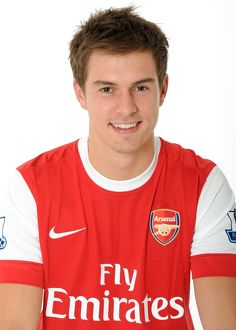 Aaron Ramsey (Arsenal). Arsenal 1st Team Photocall and Membersday. Emirates Stadium