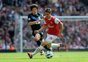 aaron ramsey arsenal ji sung park man utd arsenal 10