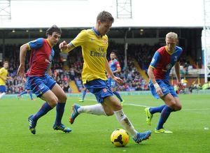 aaron ramsey arsenal mile jadinak and dean moxey palace