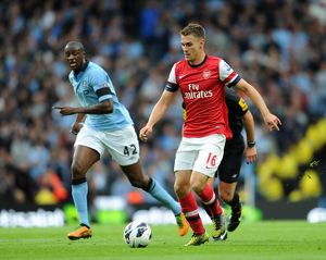 Aaron Ramsey (Arsenal) Yaya Toure (Man City). Manchester City 1:1 Arsenal