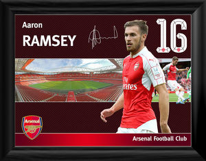 aaron ramsey framed player profile