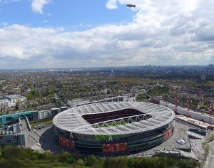 Aerial view of Emirates Stadium. Arsenal v Chelsea, barclays Premier League