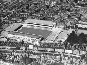 An aerial view of the Stadium as it was before the War