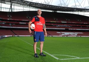 Alan Russell (Arsenal Groundstaff). Arsenal 1st Team Photcall and Training Session