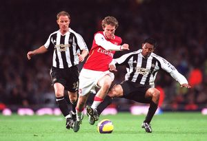 Alex Hleb (Arsenal) Nicky Butt and Nolberto Solano (Newcastle)