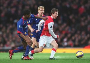 Alex Hleb (Arsenal) Paul Scholes and Patrice Evra (Man Utd)