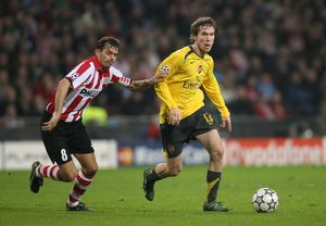 Alex Hleb (Arsenal) Phillip Cocu (PSV)