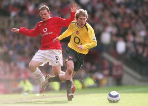 Alex Hleb (Arsenal) Wayne Rooney (Man Utd). Arsenal 0:2 Manchester United
