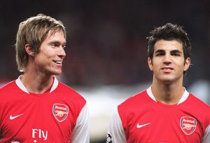 Alex Hleb and Cesc Fabregas (Arsenal)