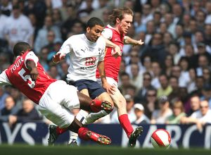 Alex Hleb and Kolo Toure (Arsenal) Aaron Lennon (Tottenham)