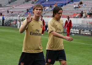 Alex Hleb and Tomas Rosicky (Arsenal)