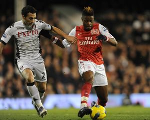 alex song arsenal stephen kelly fulham fulham 21 arsenal