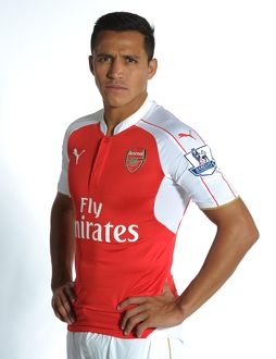 Alexis Sanchez of Arsenal. Arsenal Training Ground, London Colney, Hertfordshire