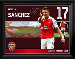 alexis sanchez framed player profile