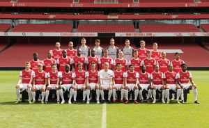 Arsenal 1st team squad. Arsenal 1st Team Photocall and Membersday. Emirates Stadium