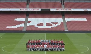 Arsenal 1st team squad. Arsenal 1st team Photocall and Members Day. Emirates Stadium