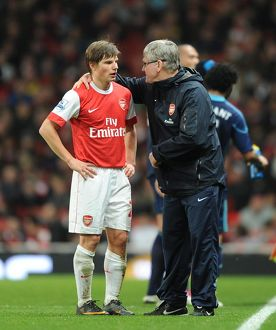arsenal assistant manager pat rice with andrey arshavin