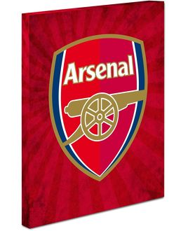 arsenal crest canvas red flare design
