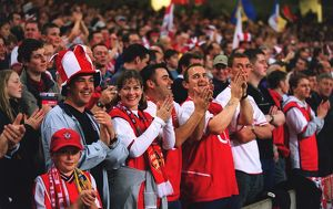 Arsenal fans before the match. Arsenal 1:0 Southampton. The F