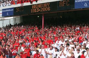 Arsenal fans under the scoreboard. Arsenal 4:2 Wigan Athletic