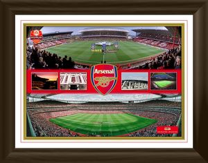 arsenal fc framed stadium montage print