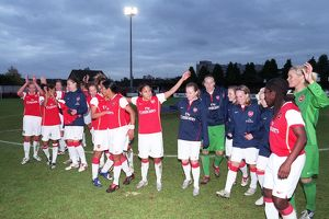 arsenal ladies celebrate getting to the final