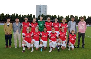 arsenal ladies with the match sponsors arsenal ladies 1