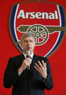 Arsenal manager Arsene Wenger at the AGM