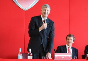 Arsenal manager Arsene Wenger and director Stan Kroenke at the AGM