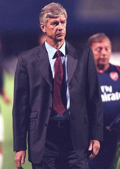 Arsenal manager Arsene Wenger at half-time