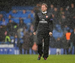 Arsenal Physio Colin Lewin. Chelsea 2:1 Arsenal. Barclays Premier League. Stamford Bridge, 20/1/13