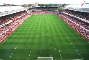 Arsenal Stadium during the match. Arsenal 2:0 Birmingham City. The F