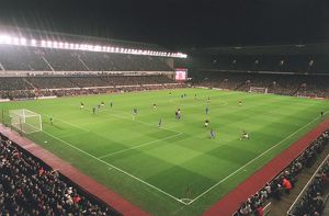 arsenal stadium during the match photographed